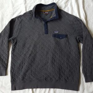 Patagonia Snap Button Quilted Grey Pullover DMG